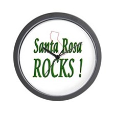 Santa Rosa Rocks ! Wall Clock