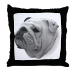 Engish Bulldog Throw Pillow
