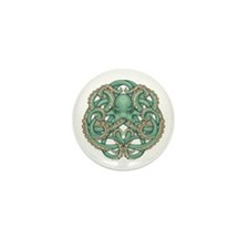 Octopus Emblem Mini Button (100 pack)