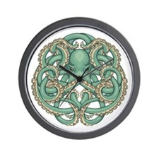 Octopus Emblem Wall Clock