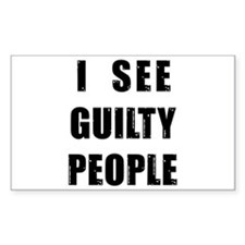 See Guilty People Oval Bumper Stickers