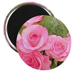Pink Rose Bouquet Magnet