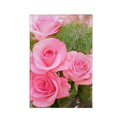 Pink Rose Bouquet Rectangle Magnet
