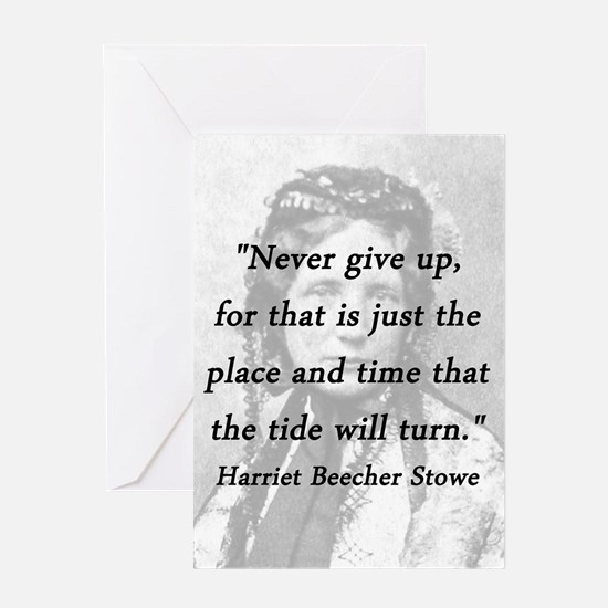 Stowe - Never Give Up Greeting Card