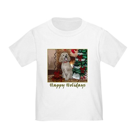 Poodle Christmas Foster Toddler T-Shirt