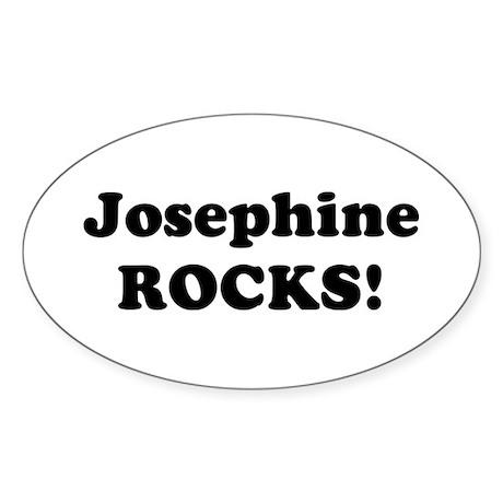 Josephine Rocks! Oval Sticker