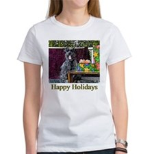 Schnauzer Christmas Sabrina Tee