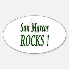 San Marcos Rocks ! Oval Decal