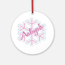 Snowflake Aaliyah Ornament (Round)