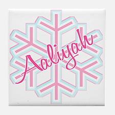 Snowflake Aaliyah Tile Coaster