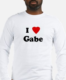 I Love Gabe Long Sleeve T-Shirt