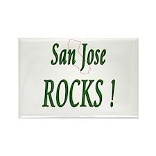 San Jose Rocks ! Rectangle Magnet
