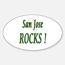 San Jose Rocks ! Oval Decal