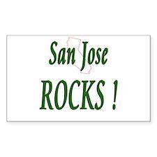 San Jose Rocks ! Rectangle Decal