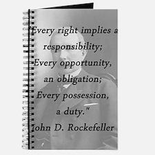 Rockefeller - Responsibility Obligation Duty Journ