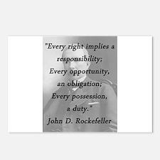 Rockefeller - Responsibility Obligation Duty Postc