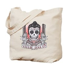 Greaser Sugar Skull Tote Bag