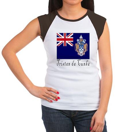 Tristan da Cunha Women's Cap Sleeve T-Shirt