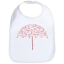 Music umbrella_red Bib