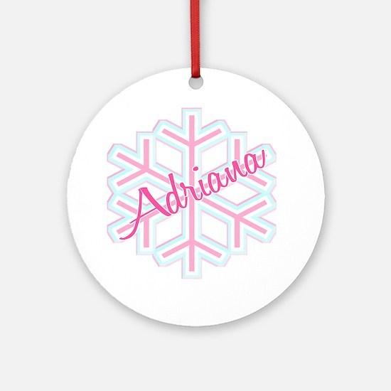 Snowflake Adriana Ornament (Round)