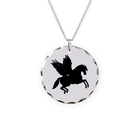 Pegasus Necklace Circle Charm