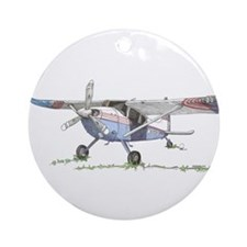 Cessna 180 Ornament (Round)