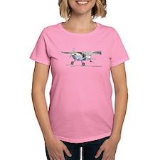 Cessna 180 Womens Dark T-Shirt