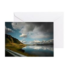 Mountains and fjord in Hvalfjordur Greeting Card