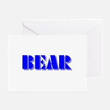 BEAR-BLUE SHADOW Greeting Cards (Pk of 10)