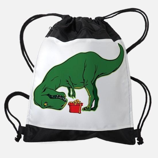 T-rex hates presents Drawstring Bag