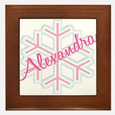 Snowflake Alexandra Personalized Framed Tile
