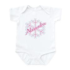 Snowflake Alexandra Personalized Infant Bodysuit
