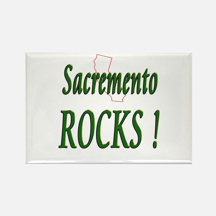 Sacremento Rocks ! Rectangle Magnet