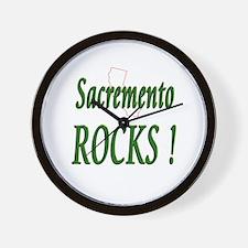 Sacremento Rocks ! Wall Clock