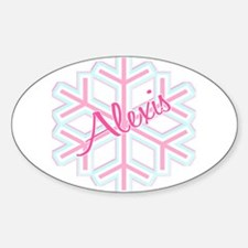 Snowflake Alexis Personalized Oval Decal