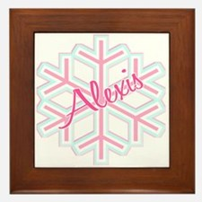 Snowflake Alexis Personalized Framed Tile