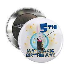 5th Magic Birthday Button