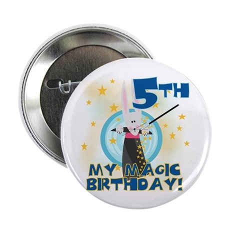 5th Magic Birthday Button