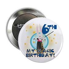 6th Magic Birthday Button
