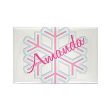 Snowflake Amanda Personalized Rectangle Magnet
