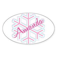 Snowflake Amanda Personalized Oval Decal