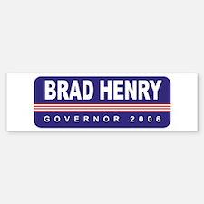 Support Brad Henry Bumper Bumper Bumper Sticker