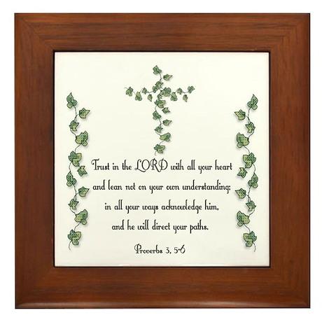 Proverbs Framed Tile