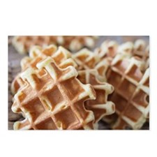 Baked waffle Postcards (Package of 8)