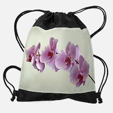 pink orchids.png Drawstring Bag