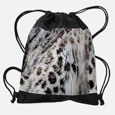 Snow Leopard Drawstring Bag