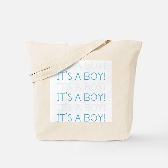 Blue It's a Boy Tote Bag