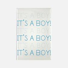 Blue It's a Boy Rectangle Magnet