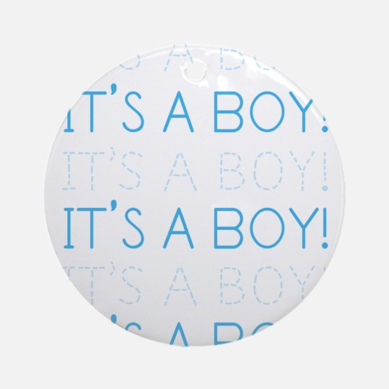 Blue It's a Boy Ornament (Round)