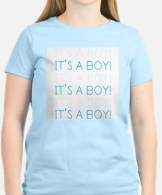Blue It's a Boy Women's Pink T-Shirt